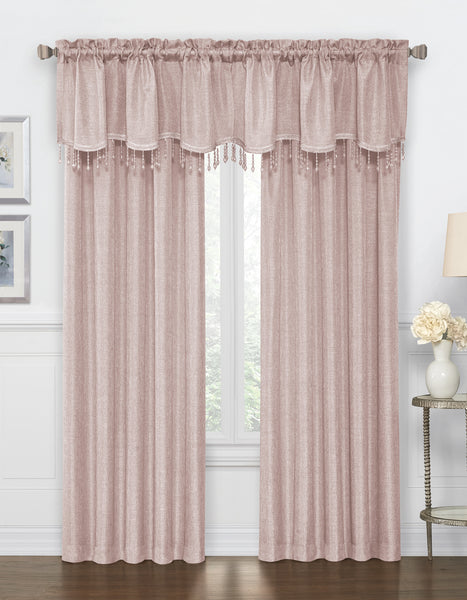 Gina Rod Pocket Panel - Panel 52x84 Rose C42286- Marburn Curtains