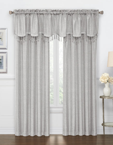 Gina Rod Pocket Panel - Panel 52x84 Silver C42287- Marburn Curtains