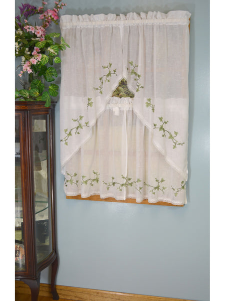 Garden Path Rod Pocket Tier/Valance/Swag - - Marburn Curtains