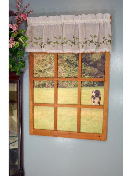 Garden Path Rod Pocket Tier/Valance/Swag - Valance 056x012 Ivy C22323- Marburn Curtains