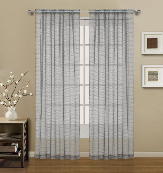 Gateway Lace Rod Pocket Panel - 054x084 Silver C41478- Marburn Curtains