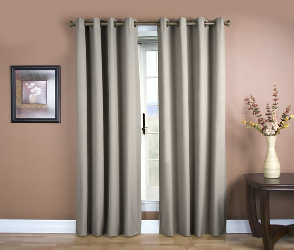 Glasgow Grommet Panel - 056x084 Grey C27923- Marburn Curtains