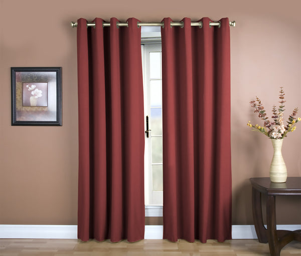 Glasgow Grommet Panel - 056x084 Pomegranate C27925- Marburn Curtains