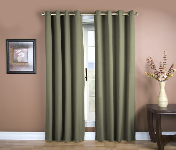 Glasgow Grommet Panel - 056x084 Spanish Moss C27926- Marburn Curtains