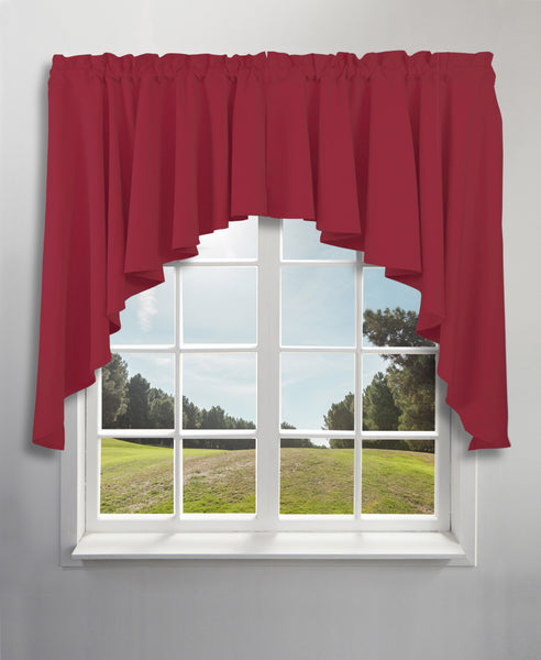 Glasgow Rod Pocket Tier / Valance / Swag - Swag 062x038 Pomegranate C31726- Marburn Curtains
