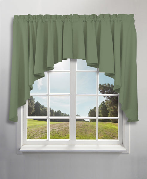 Glasgow Rod Pocket Tier / Valance / Swag - Swag 062x038 Spanish Moss C31727- Marburn Curtains