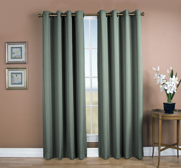 Grand Pointe Room Darkening Grommet Panel - 054x063 Green C28885- Marburn Curtains