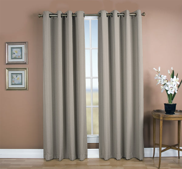 Grand Pointe Room Darkening Grommet Panel - 054x063 Smoke C28886- Marburn Curtains