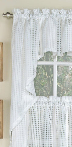 Gridwork Semi-sheer Swag - - Marburn Curtains