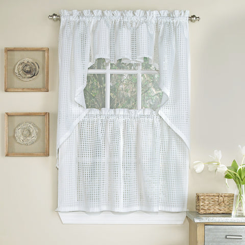 Gridwork Semi-sheer Tier - - Marburn Curtains