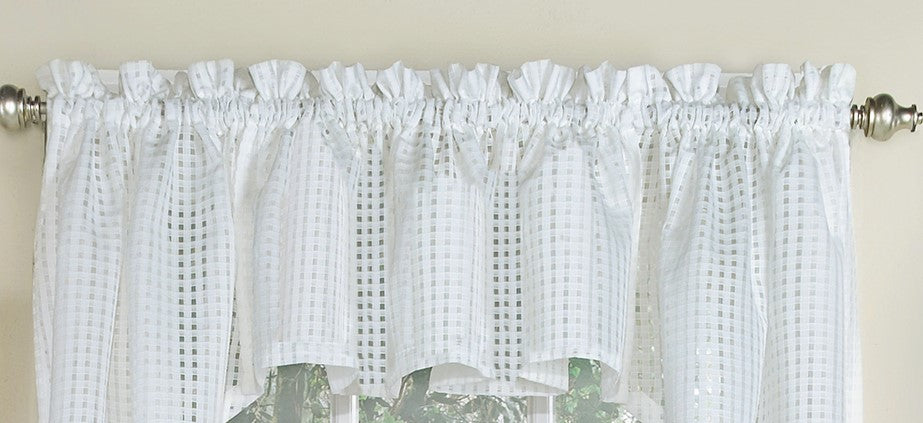 Gridwork Semi-sheer Valance