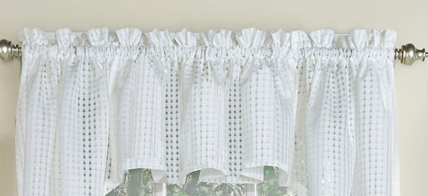 Gridwork Semi-sheer Valance - - Marburn Curtains