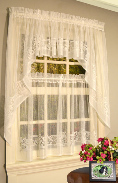 Hydrangea Lace Tier - - Marburn Curtains
