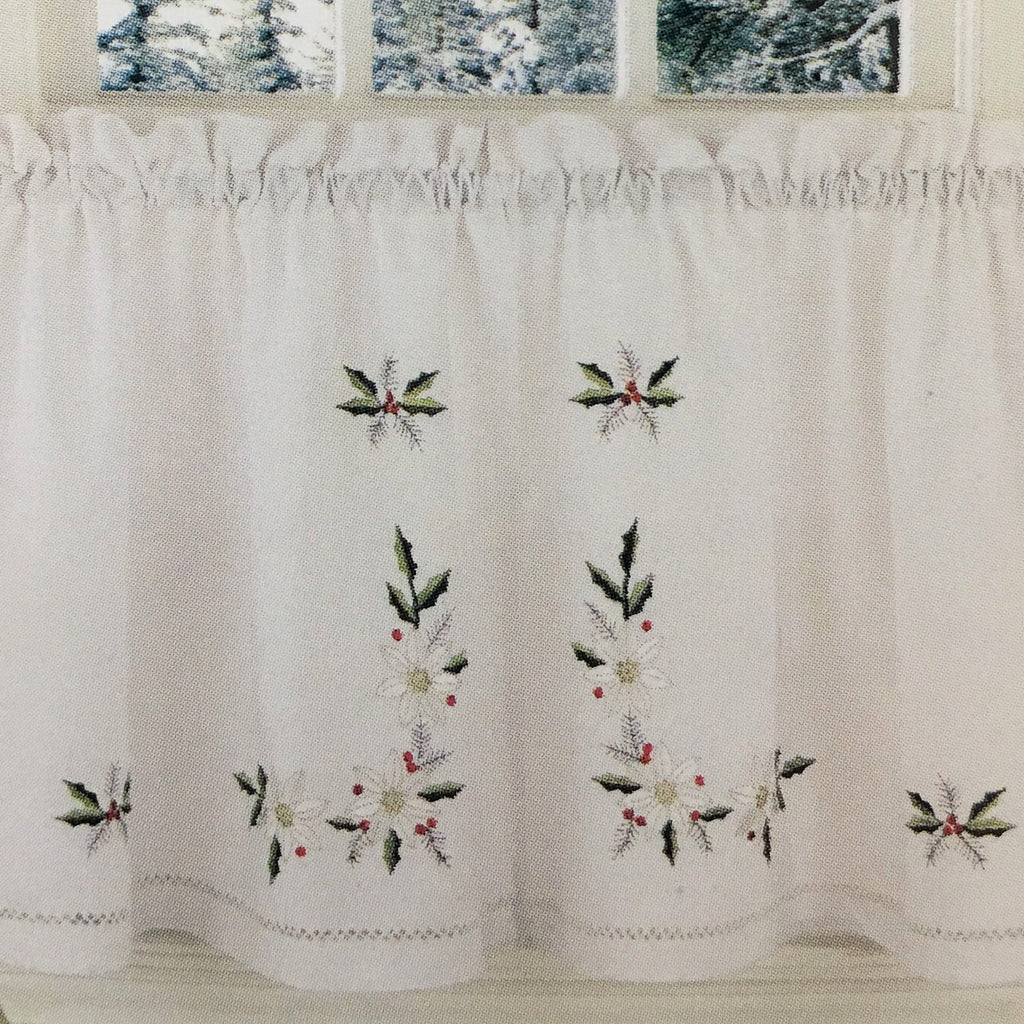 Winter Rose Embroidered Holiday Tier