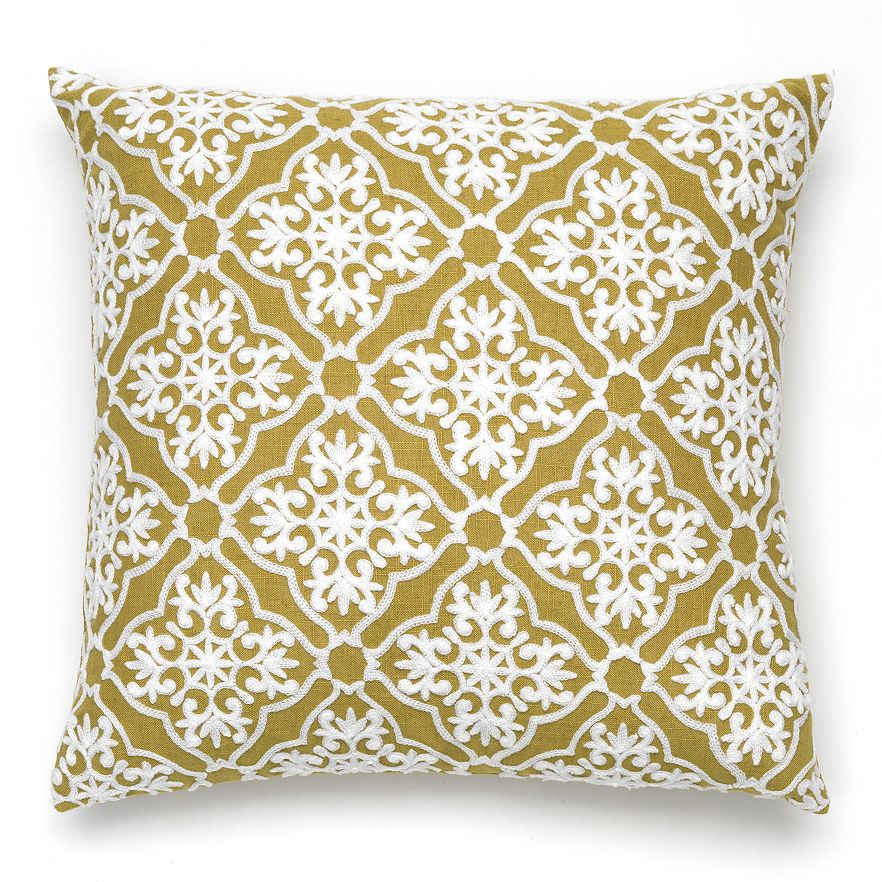 Jolene Decorative Toss Pillow - Green C41165- Marburn Curtains