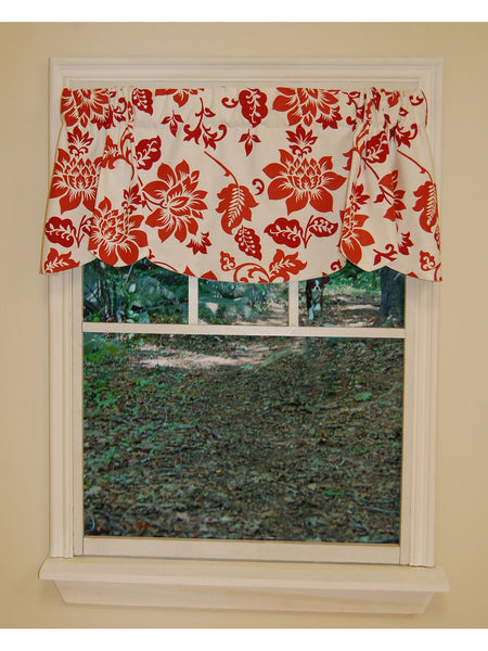 Jacobean Abstract Rod Pocket Valance - - Marburn Curtains