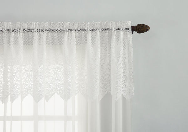 Joy Sheer Lace Panel w/attached Valance - - Marburn Curtains