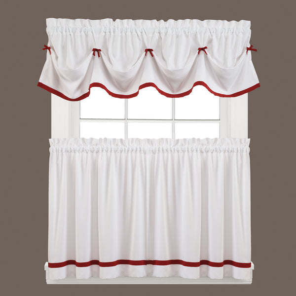 Kate Rod Pocket Tier Berry - - Marburn Curtains