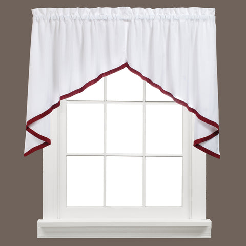 Kate Rod Pocket Swag Berry - - Marburn Curtains