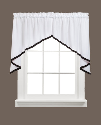 Kate Rod Pocket Swag Black - - Marburn Curtains