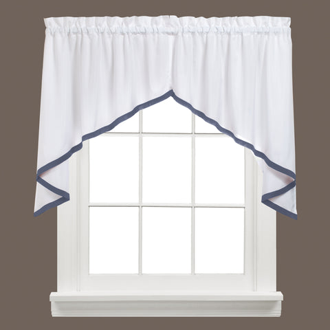Kate Rod Pocket Swag Blue - - Marburn Curtains