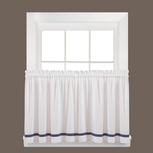 Kate Rod Pocket Tier Blue - - Marburn Curtains