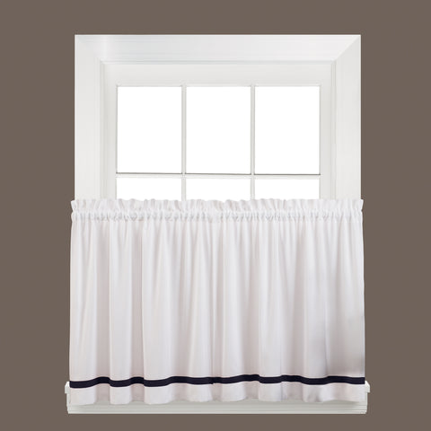 Kate Rod Pocket Tier Black - - Marburn Curtains
