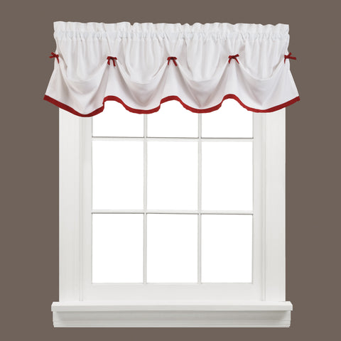 Kate Rod Pocket Tie Up Valance Berry - - Marburn Curtains