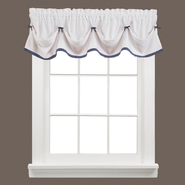Kate Rod Pocket Tie Up Valance Blue - - Marburn Curtains