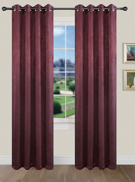 La Pearl Room Darkening Faux Suede Waterfall Valance with Attached Beads - - Marburn Curtains