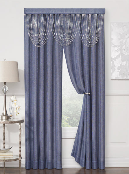 Luna Rod Pocket Panel - 054x084 Blue C41191- Marburn Curtains
