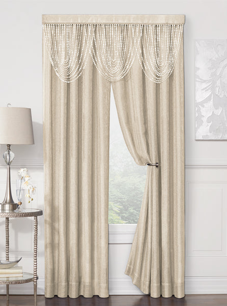 Luna Rod Pocket Panel - 052x084 Gold C41192- Marburn Curtains
