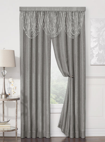 Luna Rod Pocket Panel - 052x084 Gray C41193- Marburn Curtains