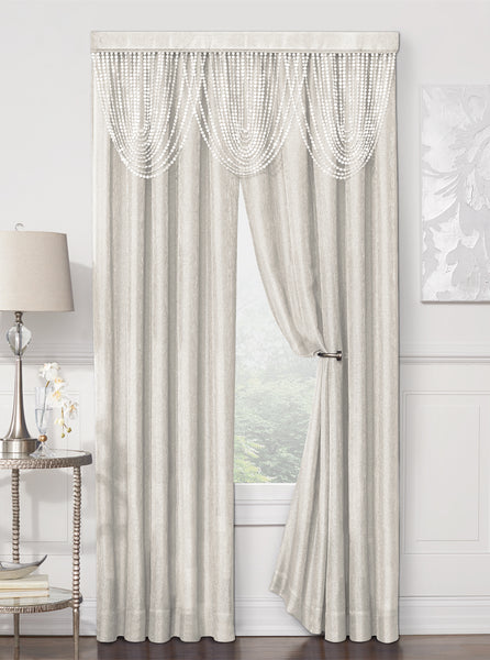 Luna Rod Pocket Panel - 052x084 Ivory C41194- Marburn Curtains