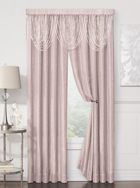 Luna Rod Pocket Panel - 052x084 Rose C41195- Marburn Curtains