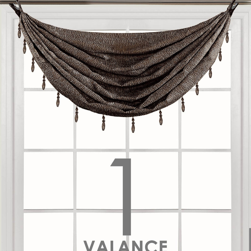 Metallica Waterfall Valance