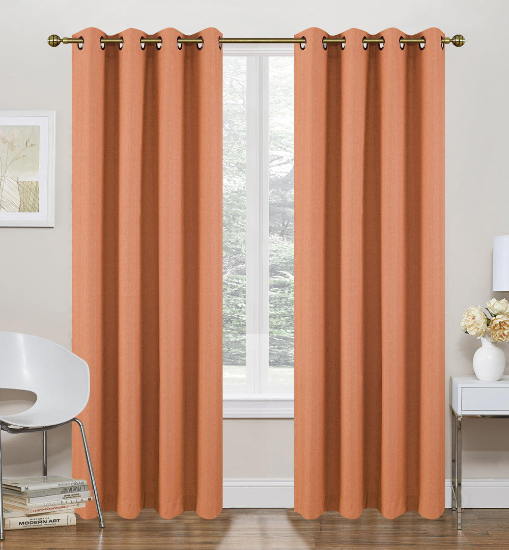 "Morrow Foamback Thermal Grommet Panel 84"" - Spice C42303- Marburn Curtains"