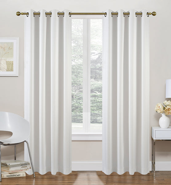 "Morrow Foamback Thermal Grommet Panel 84"" - White C42305- Marburn Curtains"