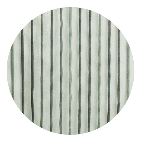 Pin Stripes Semi-sheer Grommet Panel - 054x084   Moss Green- Marburn Curtains
