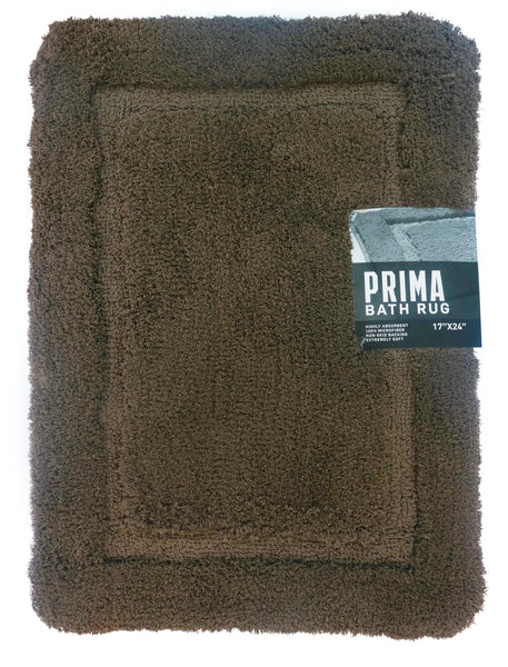 Myrtle Bath Rug - 024x040 Mocha C40052- Marburn Curtains