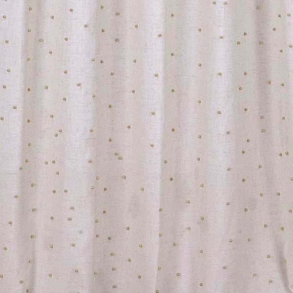Marquee Linen Rod Pocket Panel w/Beads - - Marburn Curtains