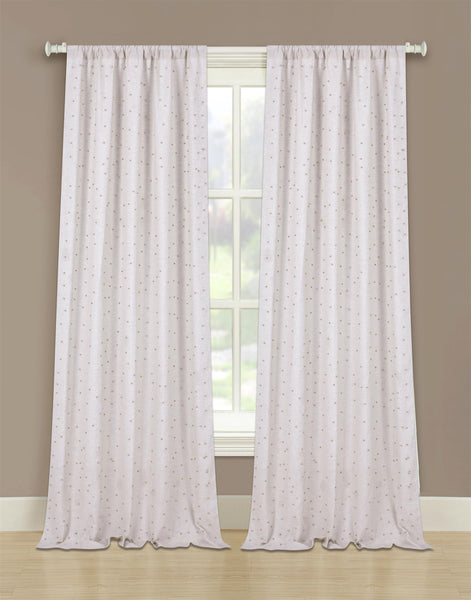 Marquee Linen Rod Pocket Panel w/Beads - 052x063 Linen/Silver C42242- Marburn Curtains