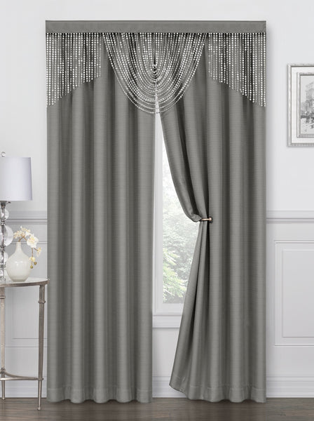 Meadow Rod Pocket Curtain Panel - 052x084   Gray  C44702- Marburn Curtains