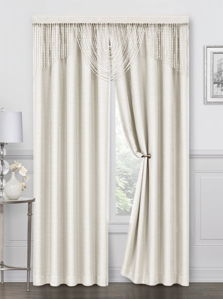 Meadow Rod Pocket Curtain Panel - 052x084   Ivory  C44703- Marburn Curtains