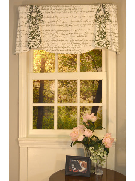 Mon Amie Beacon Rod Pocket Valance - - Marburn Curtains