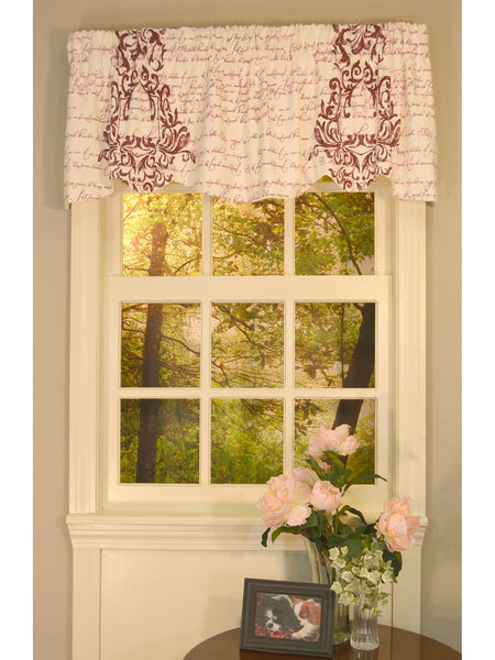 Mon Amie Beacon Rod Pocket Valance - Beacon Valance 053x015 Port C34839- Marburn Curtains