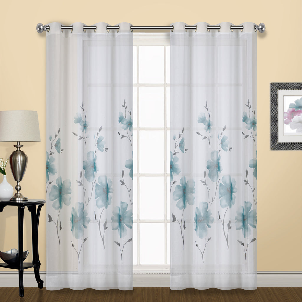 Monet Semi-Sheer Grommet Curtain Panel