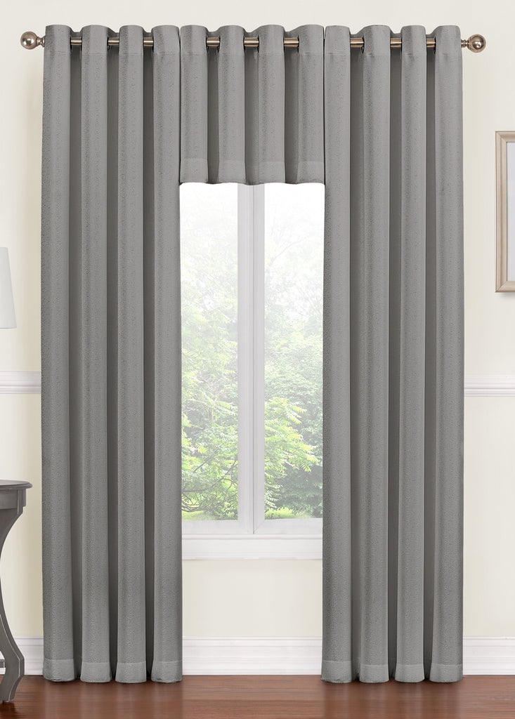 "Monroe Grommet Curtain Panel 84"" 052x084   Gray  C44709"