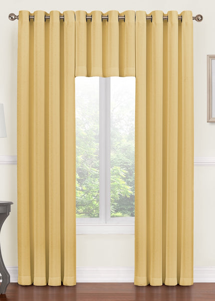Monroe Grommet Valance - 052x020   Soft Yellow  C44717- Marburn Curtains