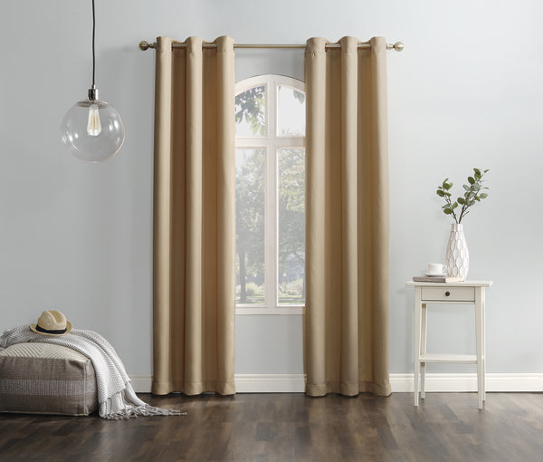 Montego Grommet Panel - 048x063 Taupe C39627- Marburn Curtains